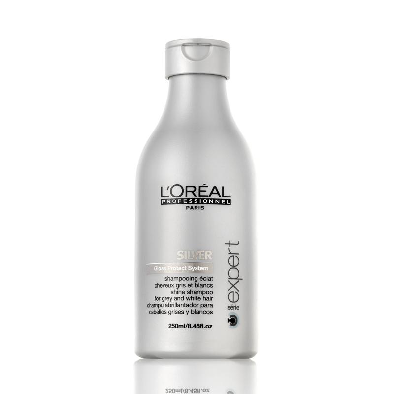 De la línea Silver de L'oreal, este shampoo es un must para mantener el matiz perlado.