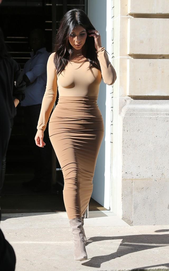 Kim Kardashian street style Paris