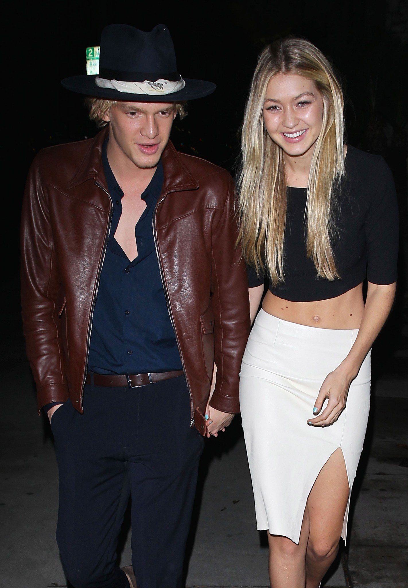 *EXCLUSIVE* Cody Simpson and Gigi Hadid reunited at The Nice Guy!