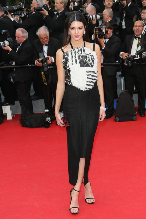 Con un vestido Chanel en el festival de Cannes