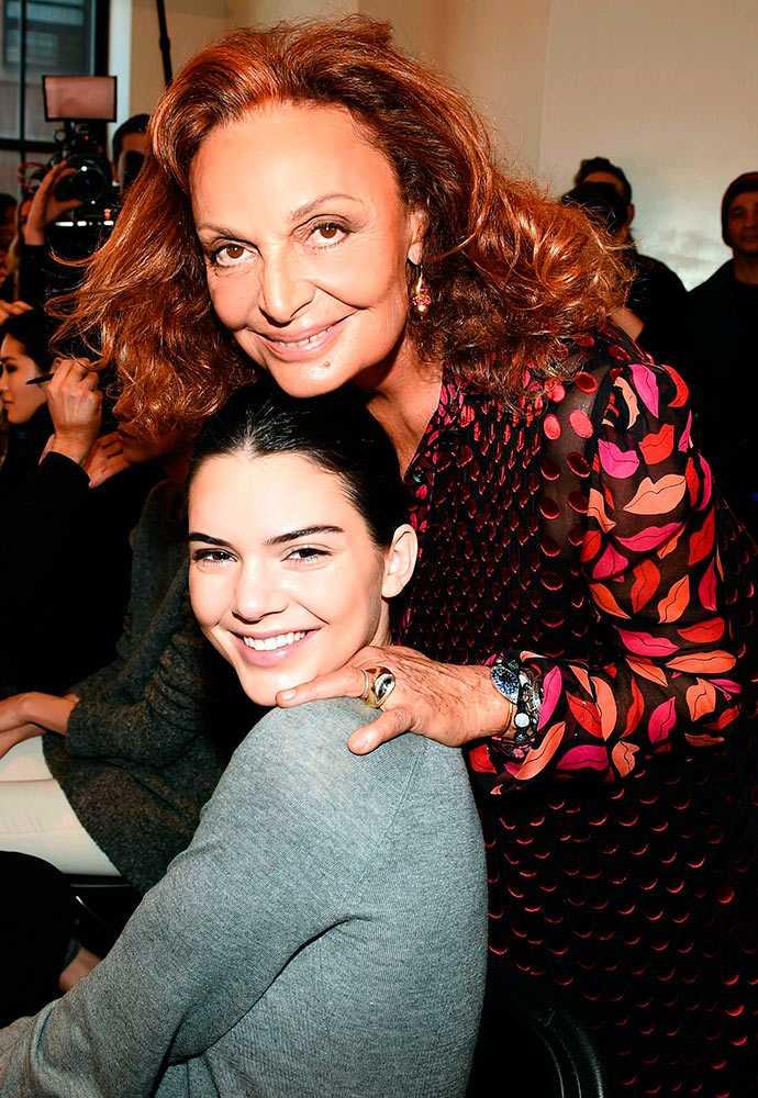 Junto a Diane Von Furstenberg en la presentación de su colección Otoño Invierno 2015, NY Fashion Week