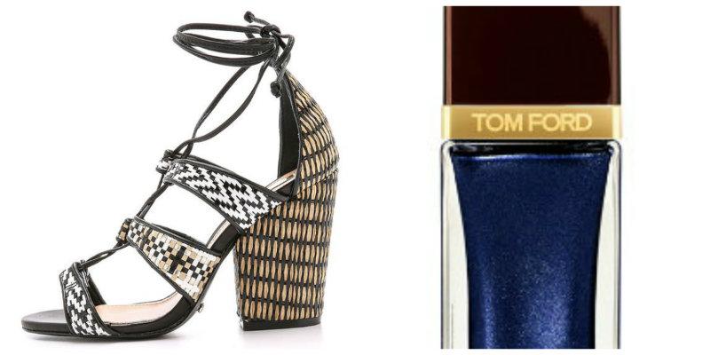 Para una sandalia de tacón de aspecto étnico, nada mejor que aportar un color llamativo pero no estridente. Prueba con el azul marino y te encantará.