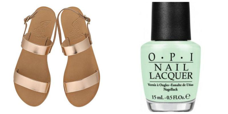Las sandalias sencillas y en tonos metalizados son cada vez más usadas. Como son difíciles de combinar, lo mejor es optar por los tonos pastel.