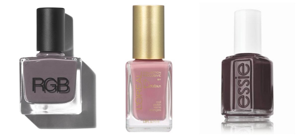 RGB Cosmetics (Haze), L'oréal (Liya's Nude) y Essie (Smokin' Hot)