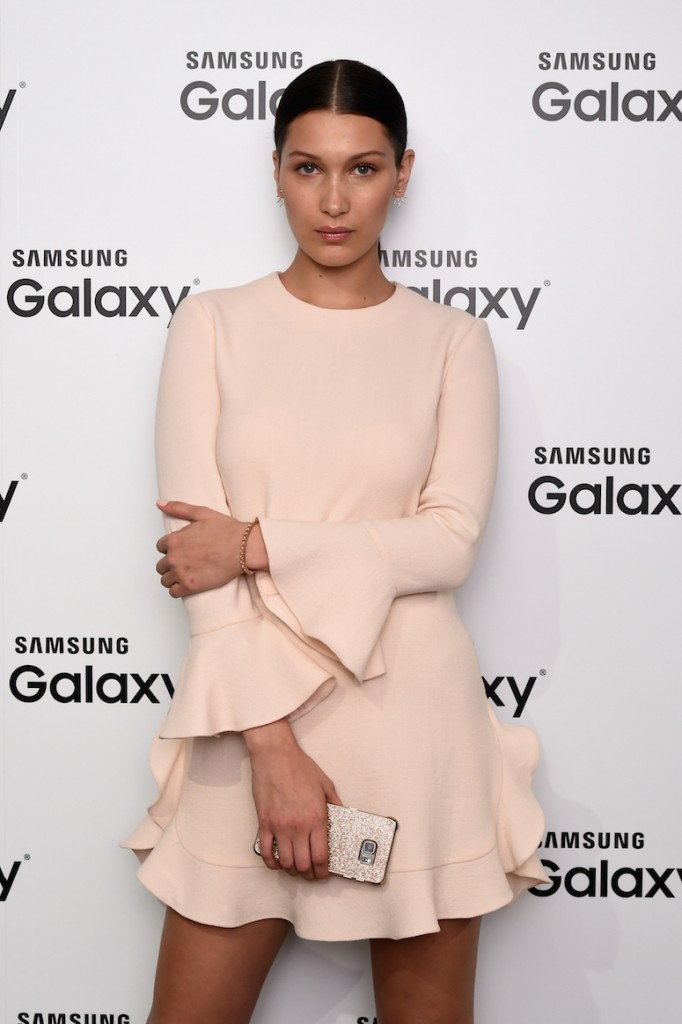 NEW YORK, NY - AUGUST 13: Model Bella Hadid attends the launch of Samsungs fall Lookbook in celebration of the new Samsung Galaxy S6 edge+ and Galaxy Note5 at the Samsung Galaxy Studio in Soho on August 13, 2015 in New York City. (Photo by Ilya S. Savenok/Getty Images for Samsung)