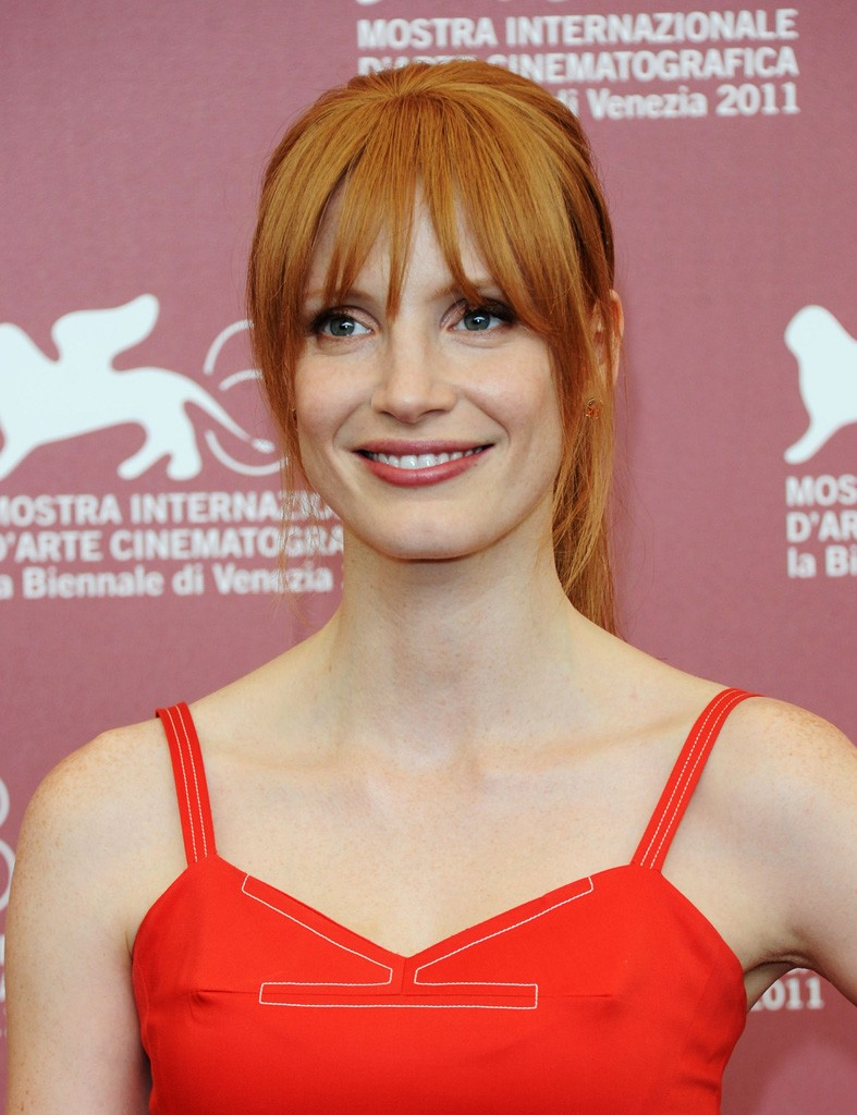 """VENICE, ITALY - SEPTEMBER 04: Acterss Jessica Chastain attends the Jaeger LeCoultre Glory To The Filmmaker Award and """"Wild Salome"""" Photocall during the 68th Venice International Film Festival at Palazzo del Casino on September 4, 2011 in Venice, Italy. (Photo by Venturelli/WireImage)"""