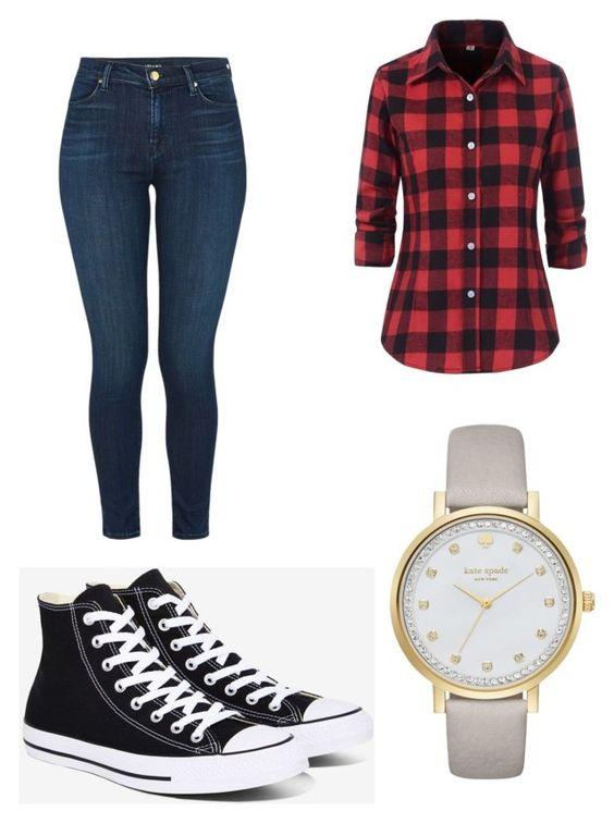 Reloj Kate Spade; vaquero J Brand; camisa Benibos; zapatillas Converse.