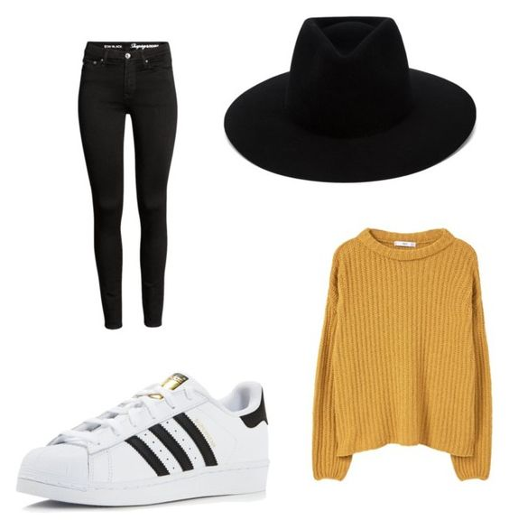 Sombrero Rag & Bone; vaquero H&M; zapatillas Adidas; sweater Mango.