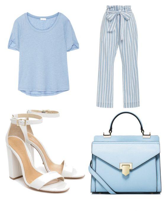 Bolso Stylewe; camiseta Net-a-porter; pantalón Frame Denim; sandalias Enida.