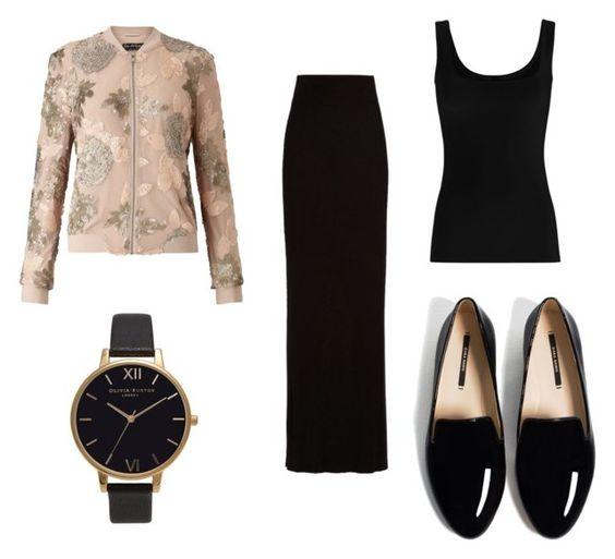 Chaqueta Miss Selfridge; reloj Olivia Burton; falda Enza Costa; camiseta Twenty Woman; mocasines Zara.