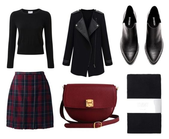 Sweater Pure Collection; falda Landsend; abrigo Make me chic; botines H&M; medias Toast; bolso The Code Handbangs.