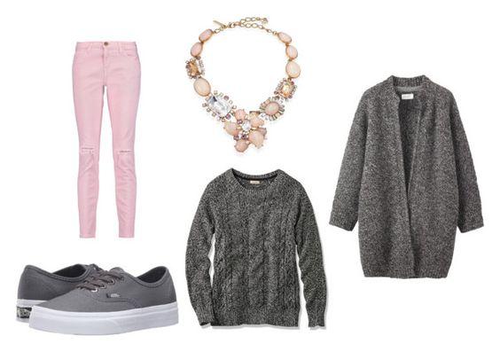 Pantalón Current Elliott; collar Oscar de la Renta; zapatillas Vans; sweater L.L. Bean Bailey Island; abrigo Toast.