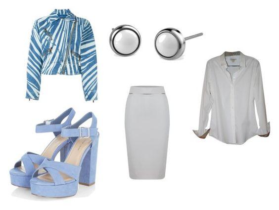 Chaqueta Roberto Cavalli; zapatos NewLook; pendientes Bering; falda WTR London; camisa Burberry.