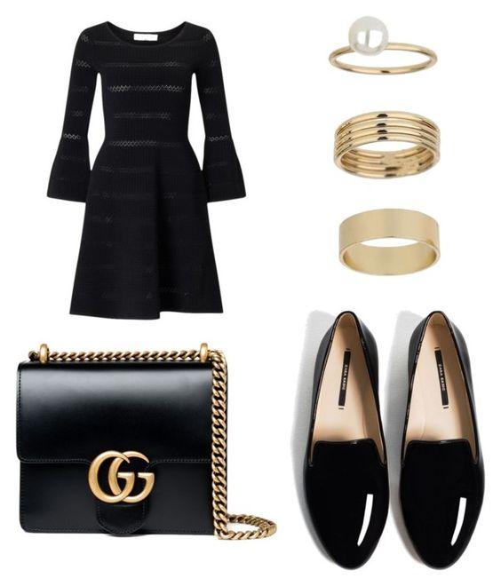 Vestido Sandro Carmen; bolso Gucci; anillos Miss Selfridge; mocasines Zara