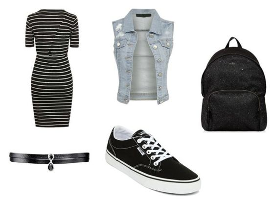 Vestido TopShop; chaqueta vaquera BEKDO; choker Barney's; zapatillas Vans; mochila Hogan