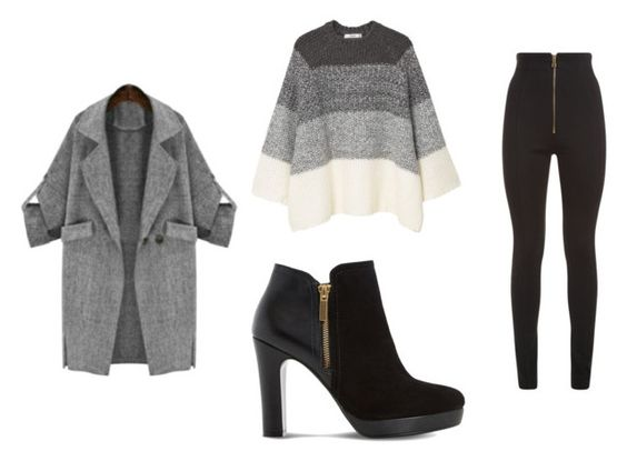 Abrigo Maykool; sweater Mango; botines Dune; pantalón Balmain.