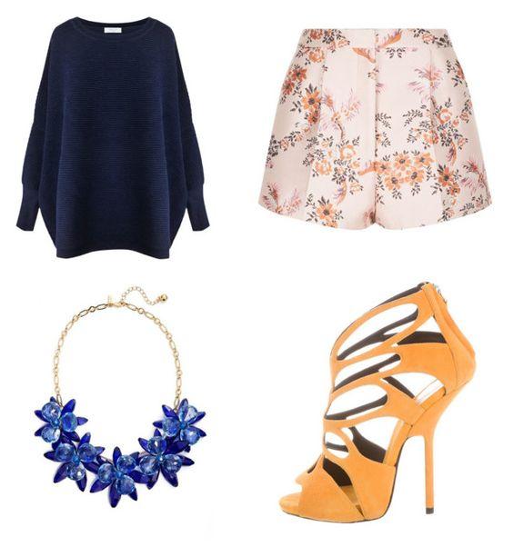 Sweater Paisie; collar Kate Spade; short Stella McCartney; sandalias Giuseppe Zanotti.