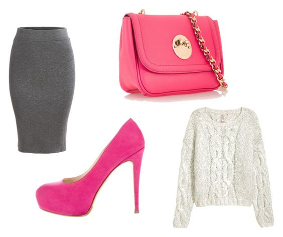 Falda Romwe; bolso Hill & Friends; zapatos Brian Atwood; sweater H&M.