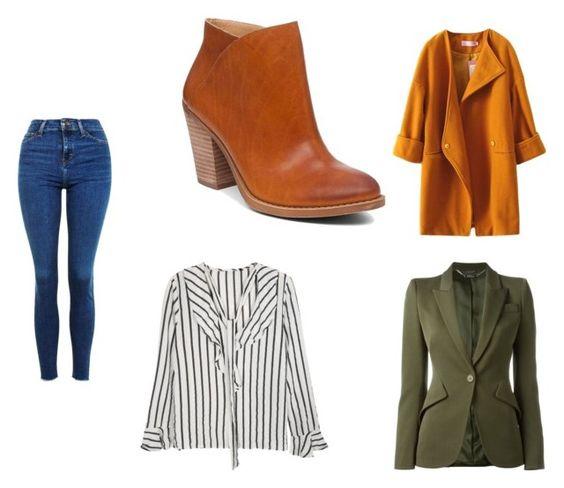 Vaquero TopShop; botines Lucky Brand; abrigo Pink Queen; camisa Zaful; chaqueta Alexander McQueen.
