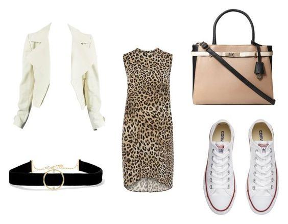 Chaqueta Chanel; choker Anissa Kamiche; vestido Dorothy Perkins; bolso Dorothy Perkins; zapatillas Converse.
