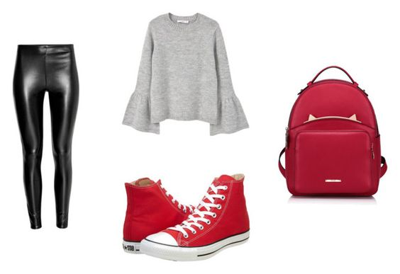 Leggings H&M; zapatillas Converse; sweater Mango; mochila Withchic.