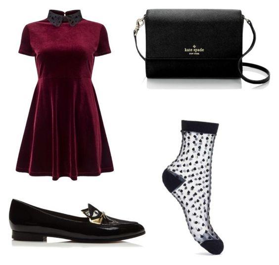 Vestido Miss Selfridge; mocasines Kate Spade; bolso Kate Spade; calcestines Miss Selfridge.