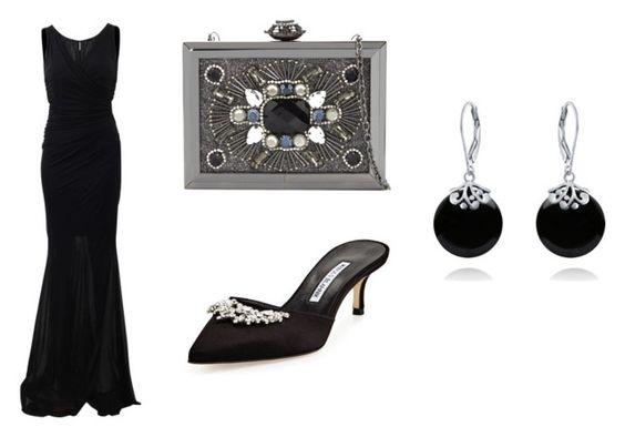 Vestido Blumarine; clutch ALDO; mules Manolo Blahnik; pendientes Bling Jewelry.
