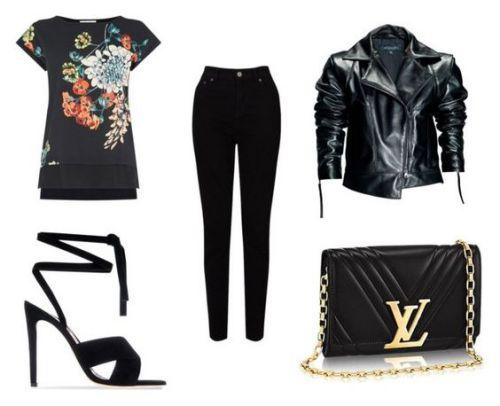 Blusa Oasis; sandalia Gianvitto Rossi; vaquero John Lewis; chaqueta Leka; bolso Louis Vuitton.