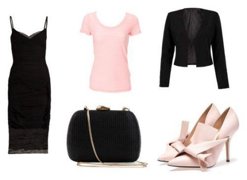 Vestido Versace; camiseta Simplex; bolso Serpui; chaqueta With Chic; zapatos Numero Ventuno.
